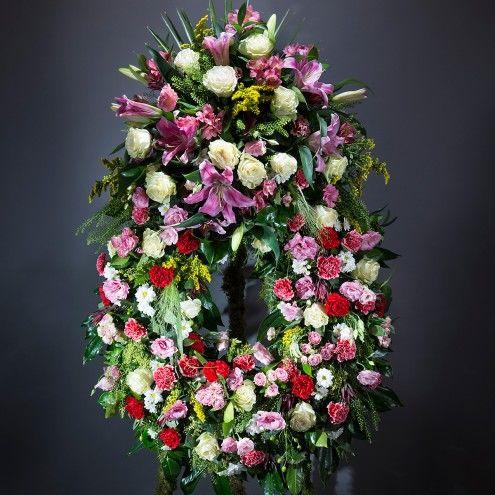 Corona de flores clásica