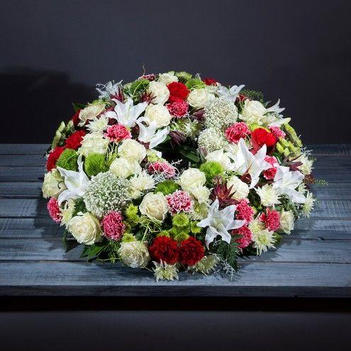 Corona de flores mediana